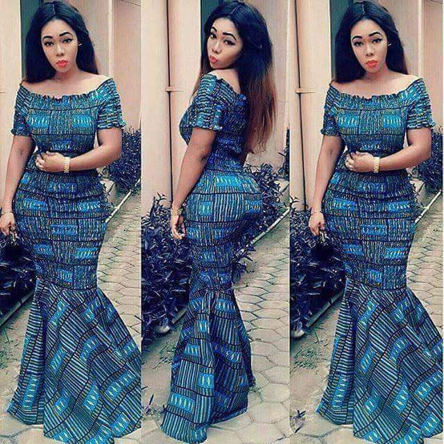 Latest Ankara Long Gown Styles For Charming Fashionistas