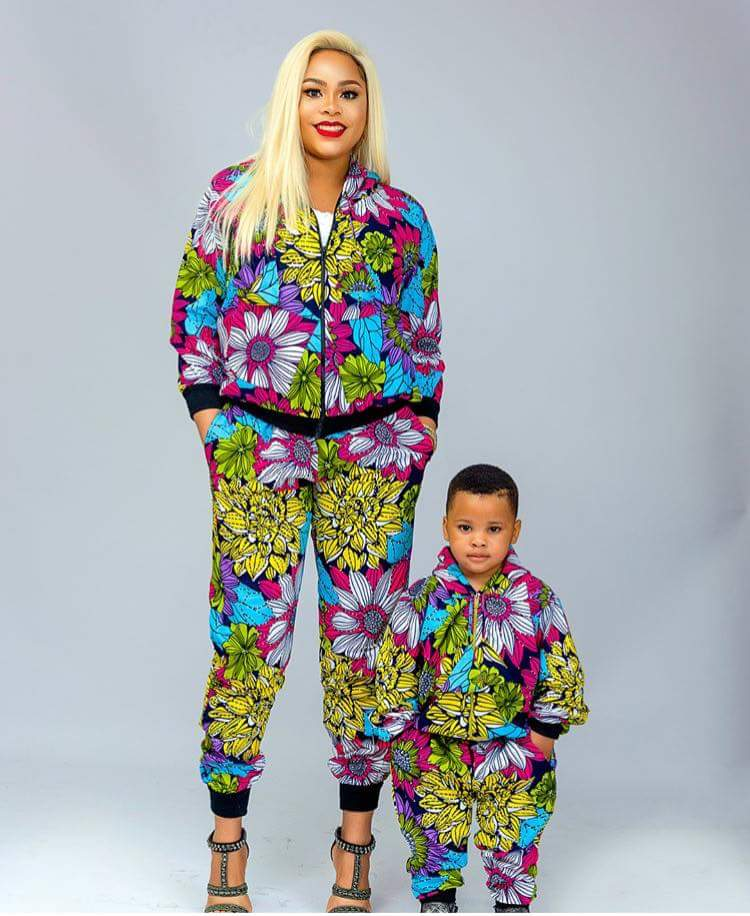 Ankara pant with bumper suits