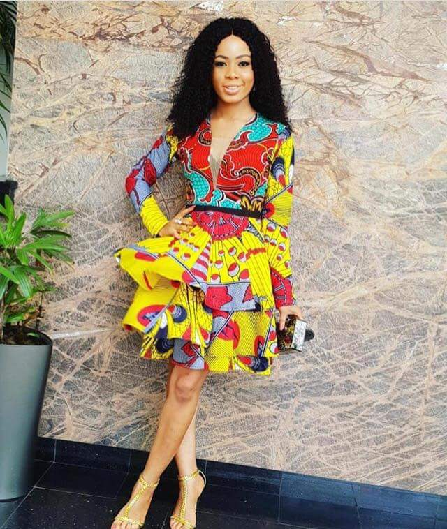 Latest Ankara Short Gown For Sophisticated Ladies