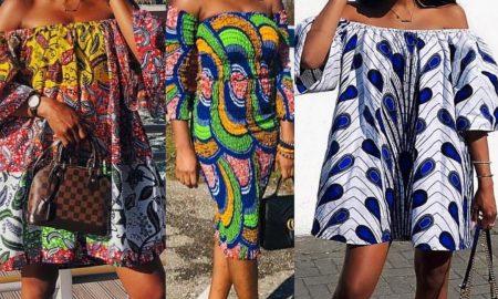 Off Shoulder Ankara Gowns