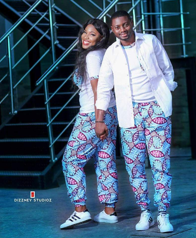 Ankara pants for pre-wedding shoots