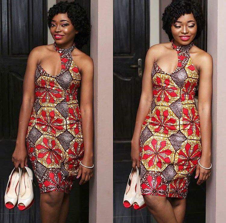 ankara short gown