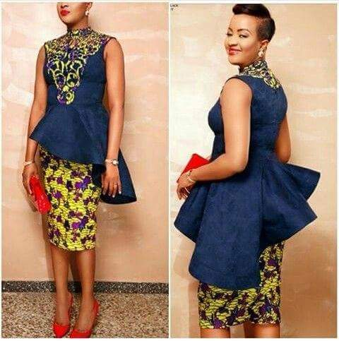 Beautiful combo of Ankara with jean