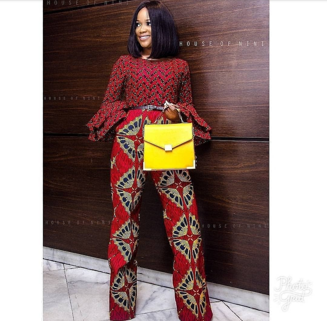 Mix and match Ankara style of jump-suit