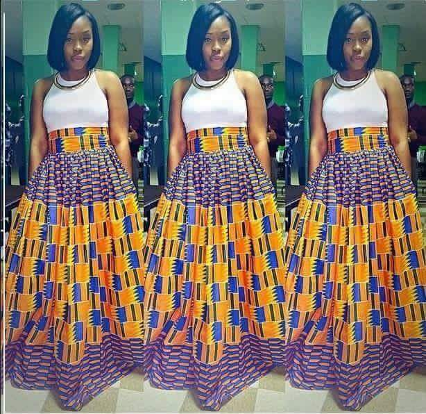 Flared maxi latest skirts and blouse for you