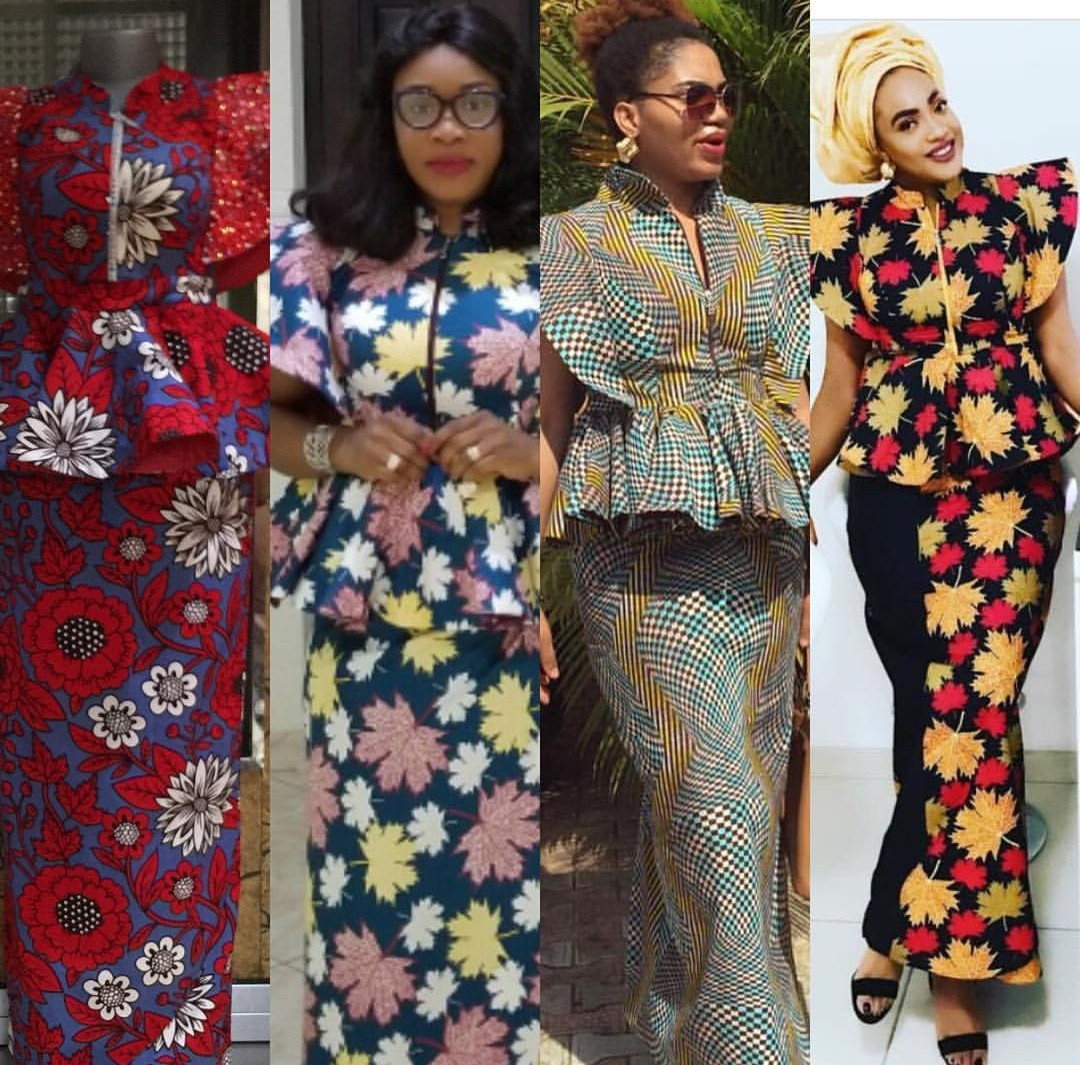 New Ankara Styles Siks Nd Tops: Latest Ankara Skirt And Blouse, (Fabulous Women Styles