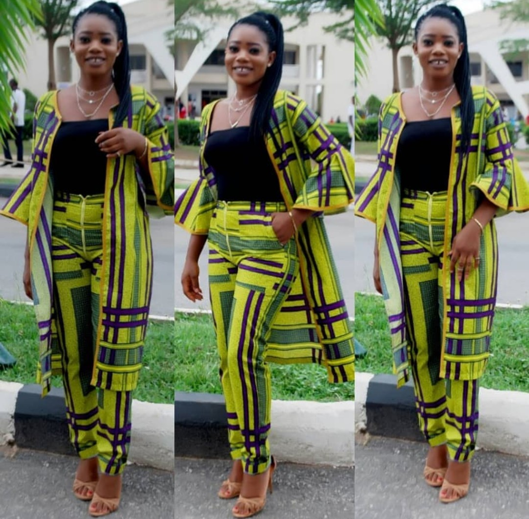 Ankara trouser with kimono jacket is a goal