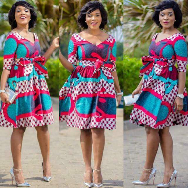 Nigeria Ankara short gown style