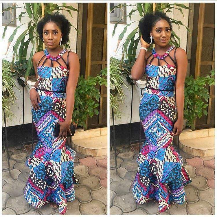 Nigeria Ankara gown style