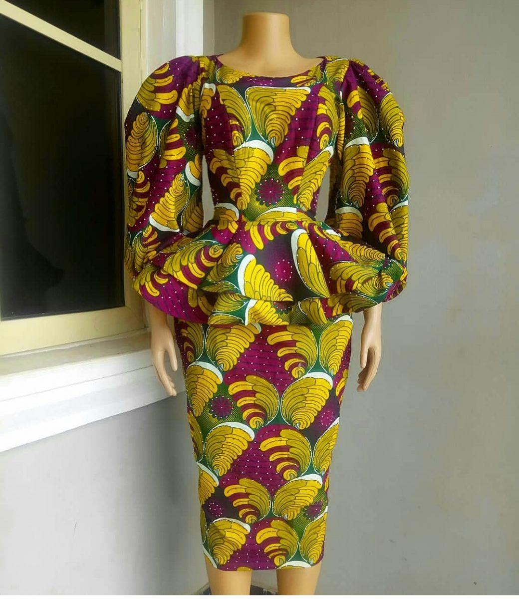 Nigeria Ankara Style of skirt and blouse