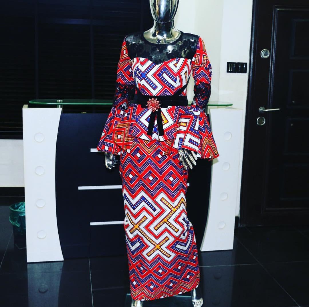 Ankara Pencil skirt and blouse style