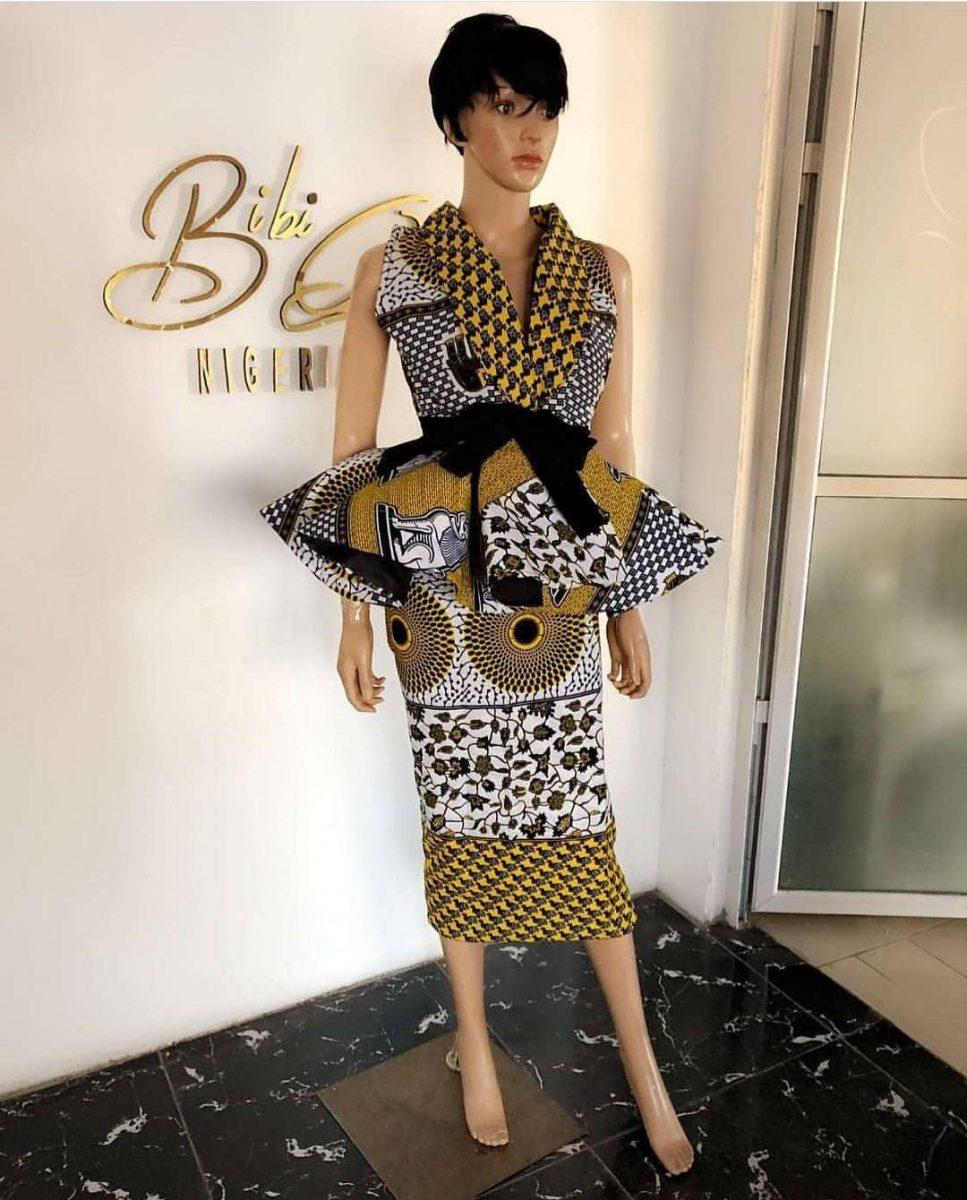 Ankara short skirt and blouse