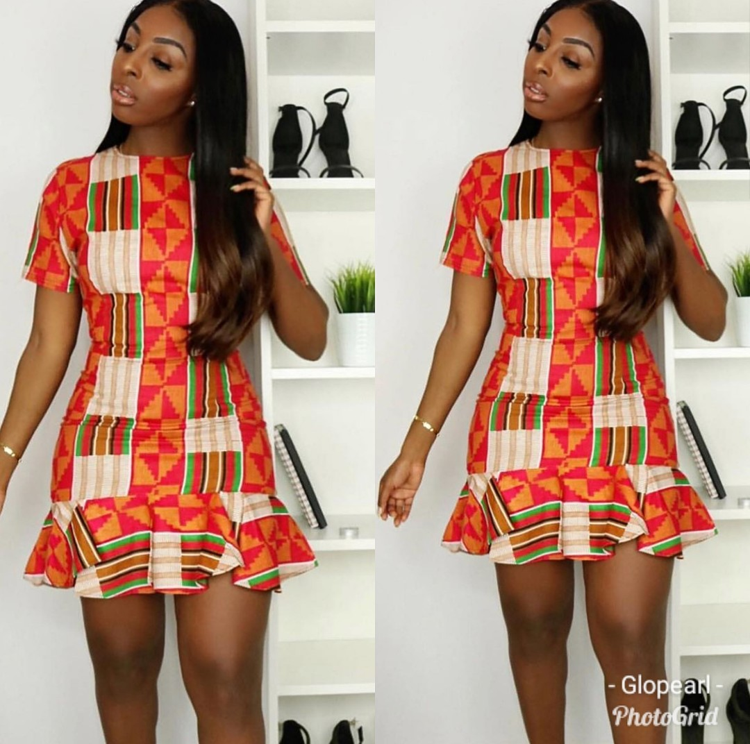 Latest Ankara Short Gown For Sophisticated Ladies- 90 Designs