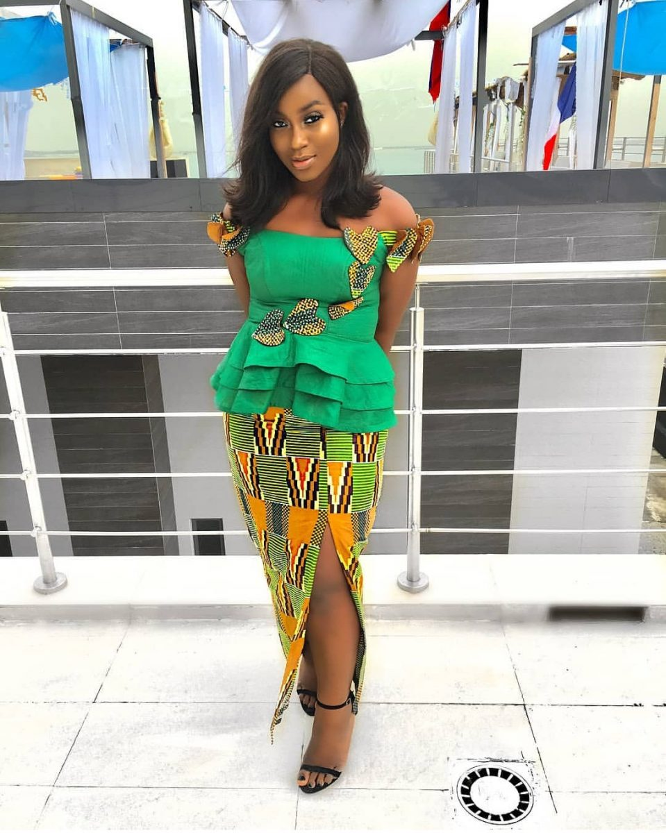 plain and pattern ankara styles