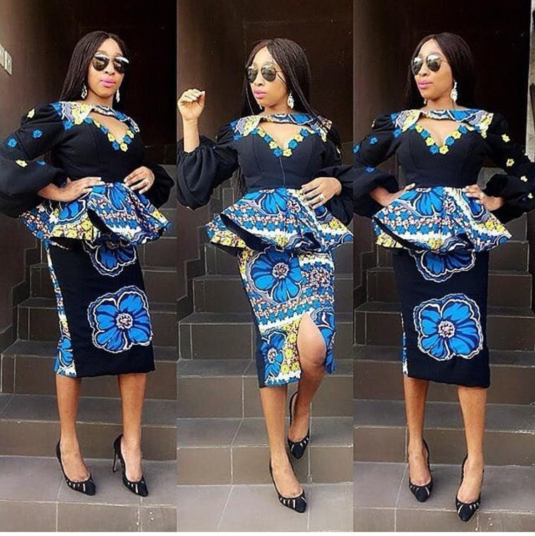 ac09350f554464 Ankara Skirt And Blouse Style For Wedding-ANKARA 2018