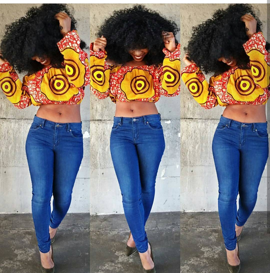 Ankara Off Shoulder Tops