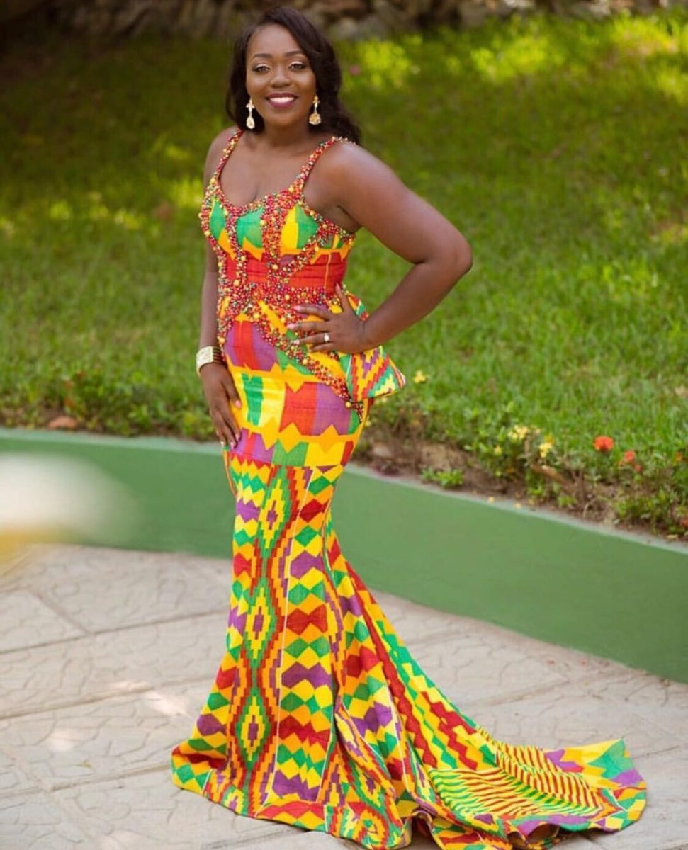 KENTE STYLES-100 Charming Kente Material Style For Ladies