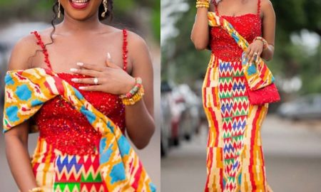 Kente Styles For Ghanaian Bride