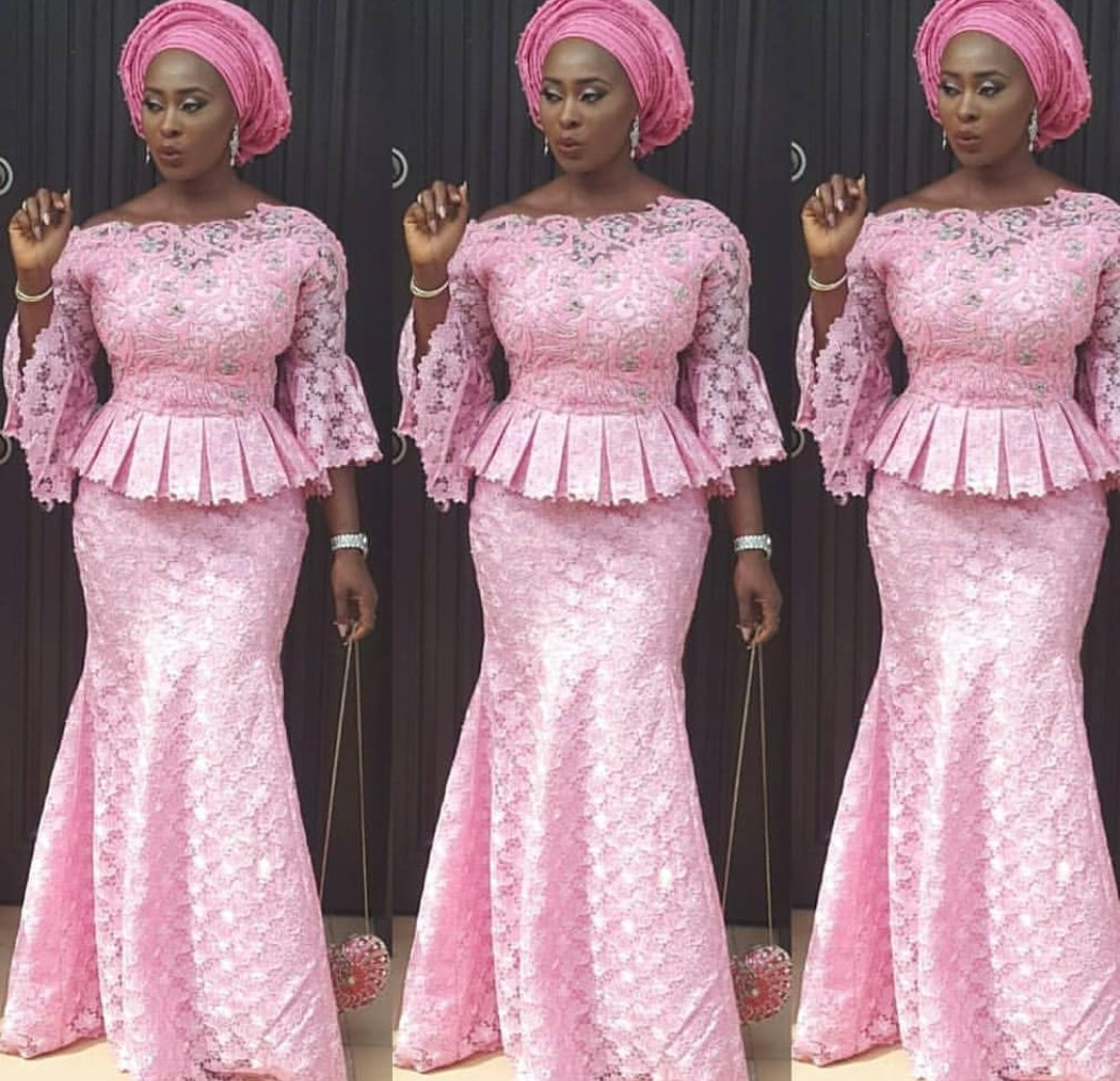cord lace styles skirt and blouse Promotions