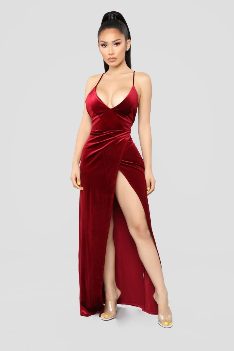 velvet dress dresses burgundy maxi dark styles angelique nova material abi harding designs studio
