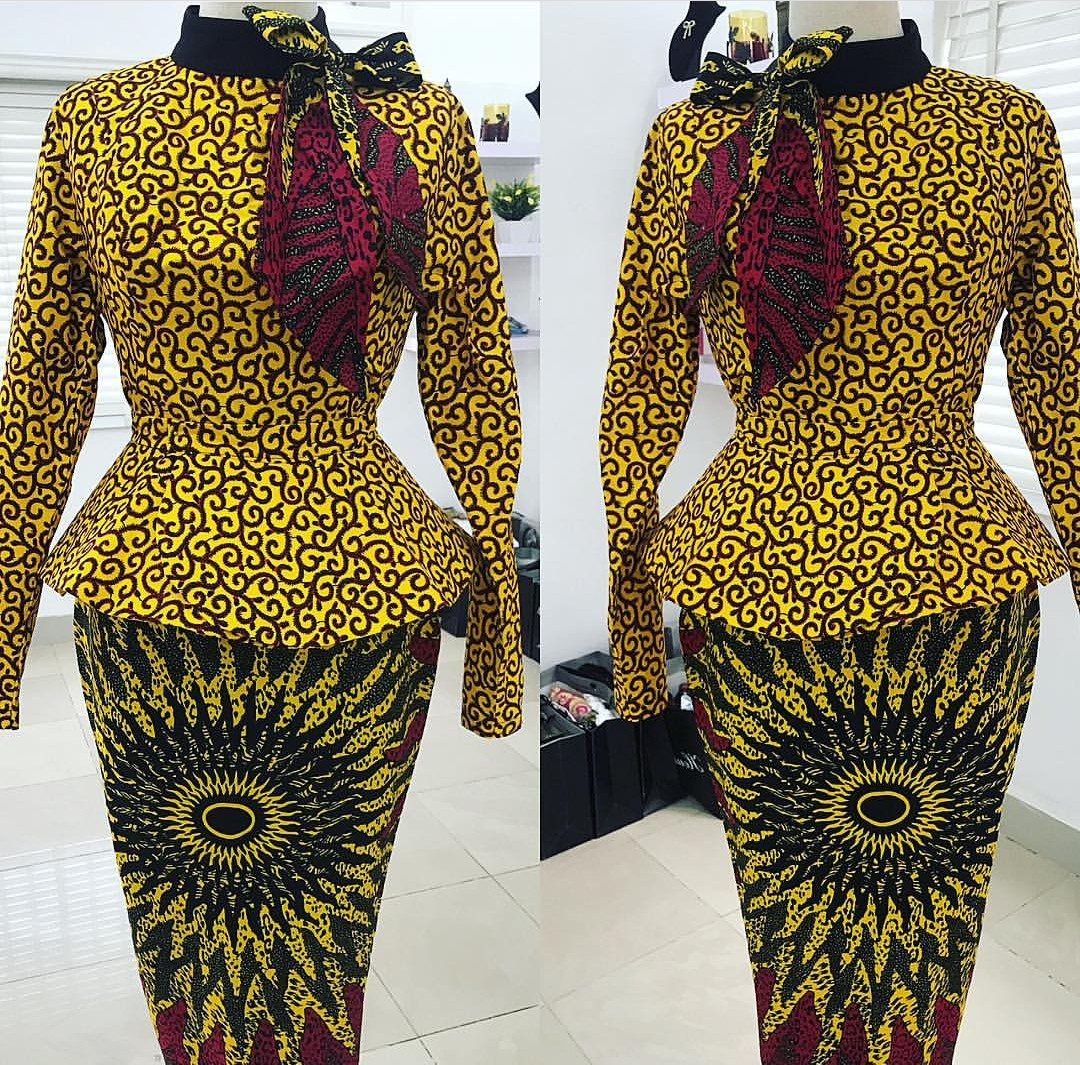 Classic Ankara Skirt And Blouse Styles