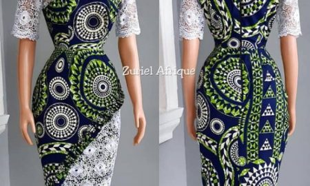 Ankara And Lace Combination