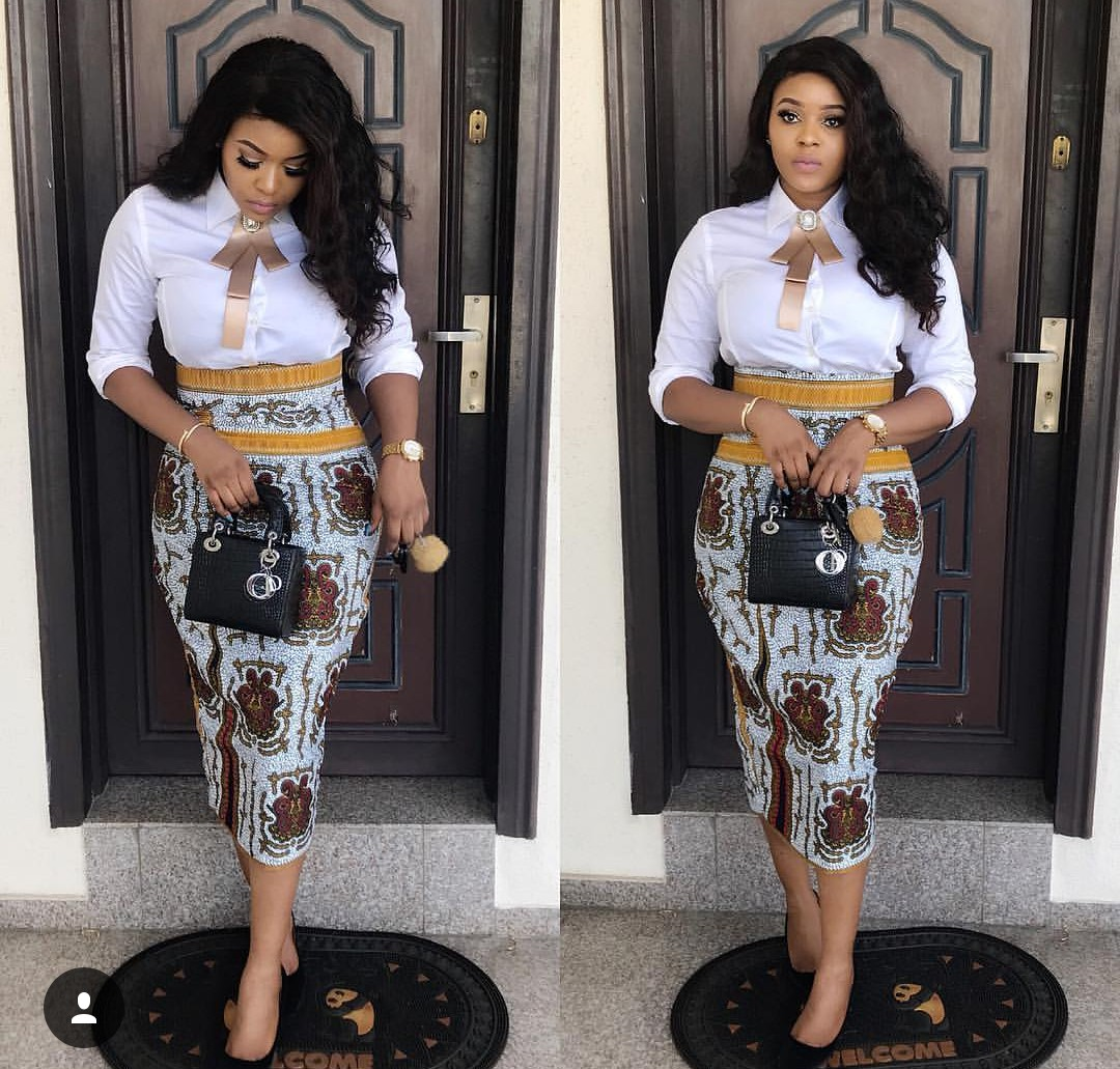 Fine Ankara Styles Of Gown Skirts Amp Blouses Pants