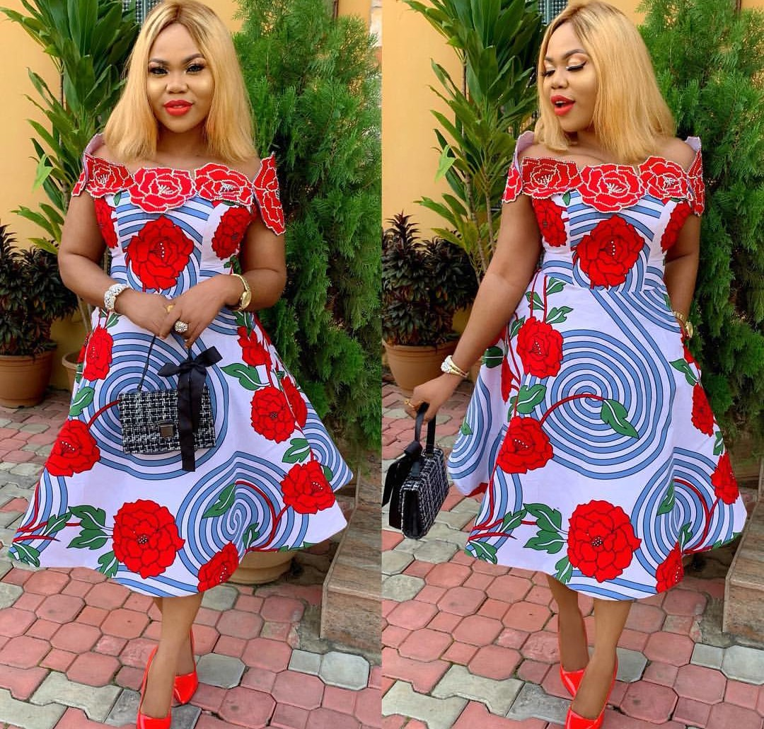 Ankara Short Flare Gowns Designs-Be In Trend With This 70