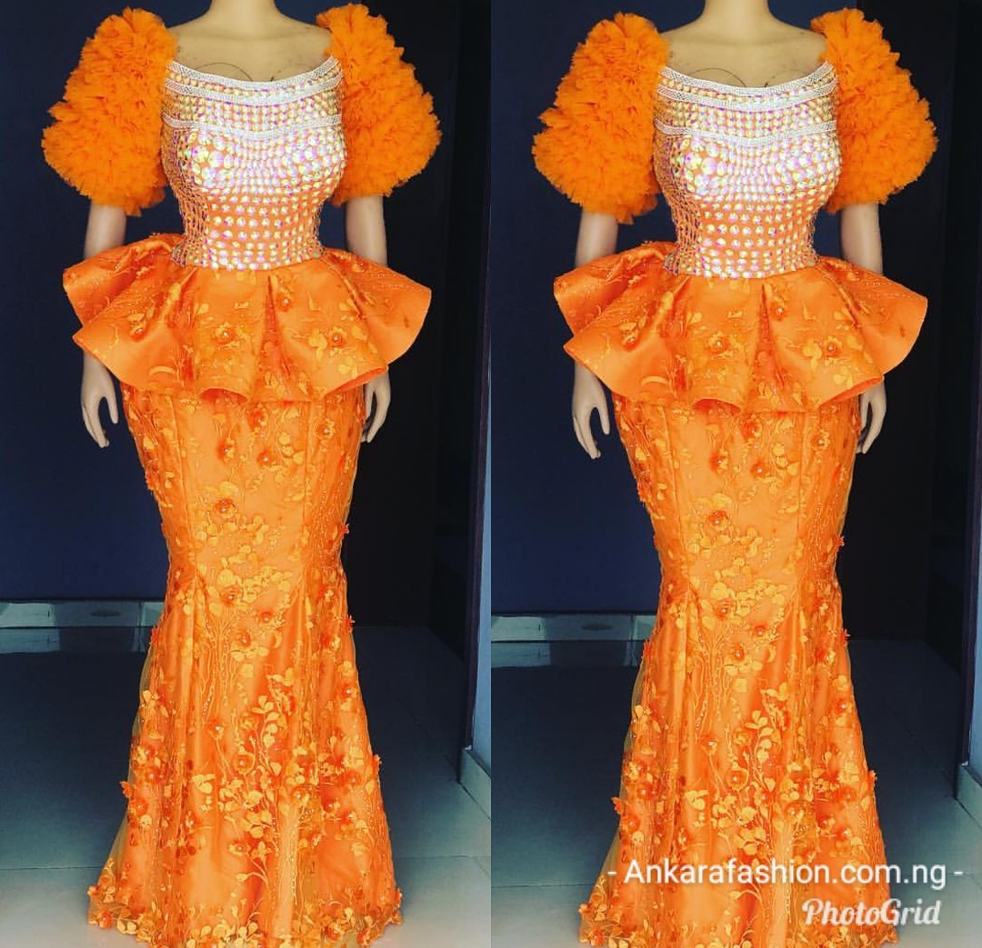 50d600889b773c Peplum Lace AsoEbi Skirt & Blouse 2019 for Wedding Guests-50 Designs