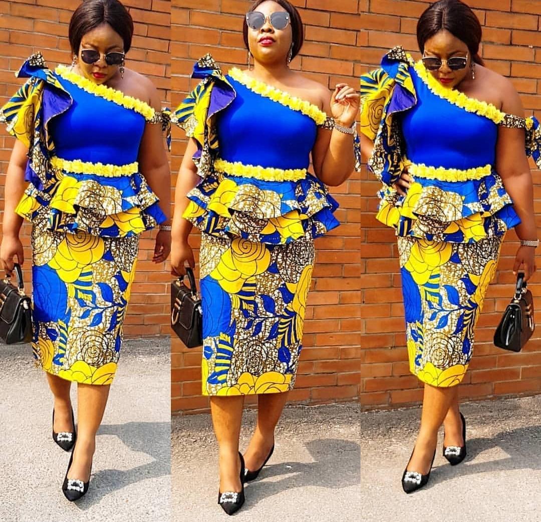Ankara Skirt & Blouse For Church-Check Out This 70+Ankara
