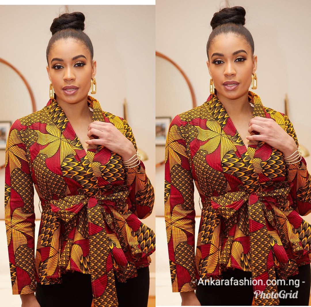 Top 20 Latest Ankara Styles Designs 2019: Cute & Dazzling Ankara Tops Styles For Your Jeans,skirts