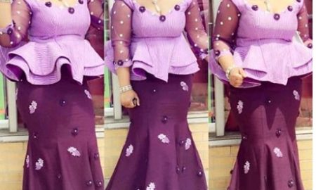 Peplum Lace AsoEbi Skirt & Blouse