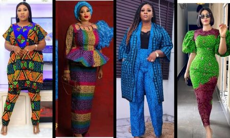 Ankara Catalogue Of Gowns, Skirt & Blouse, Shorts & Jumpsuits-90 Designs
