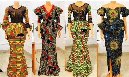 Dazzling Ankara Skirt & Blouse