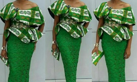 Cute Ankara Skirt & Blouse