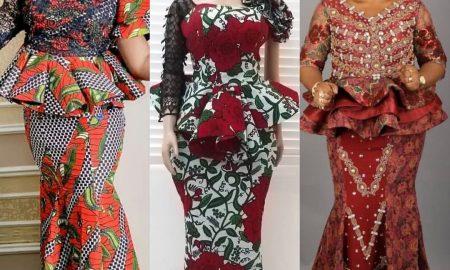 Stylish Ankara Skirt & Blouse