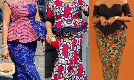 Eye-popping Ankara Skirt & Blouse