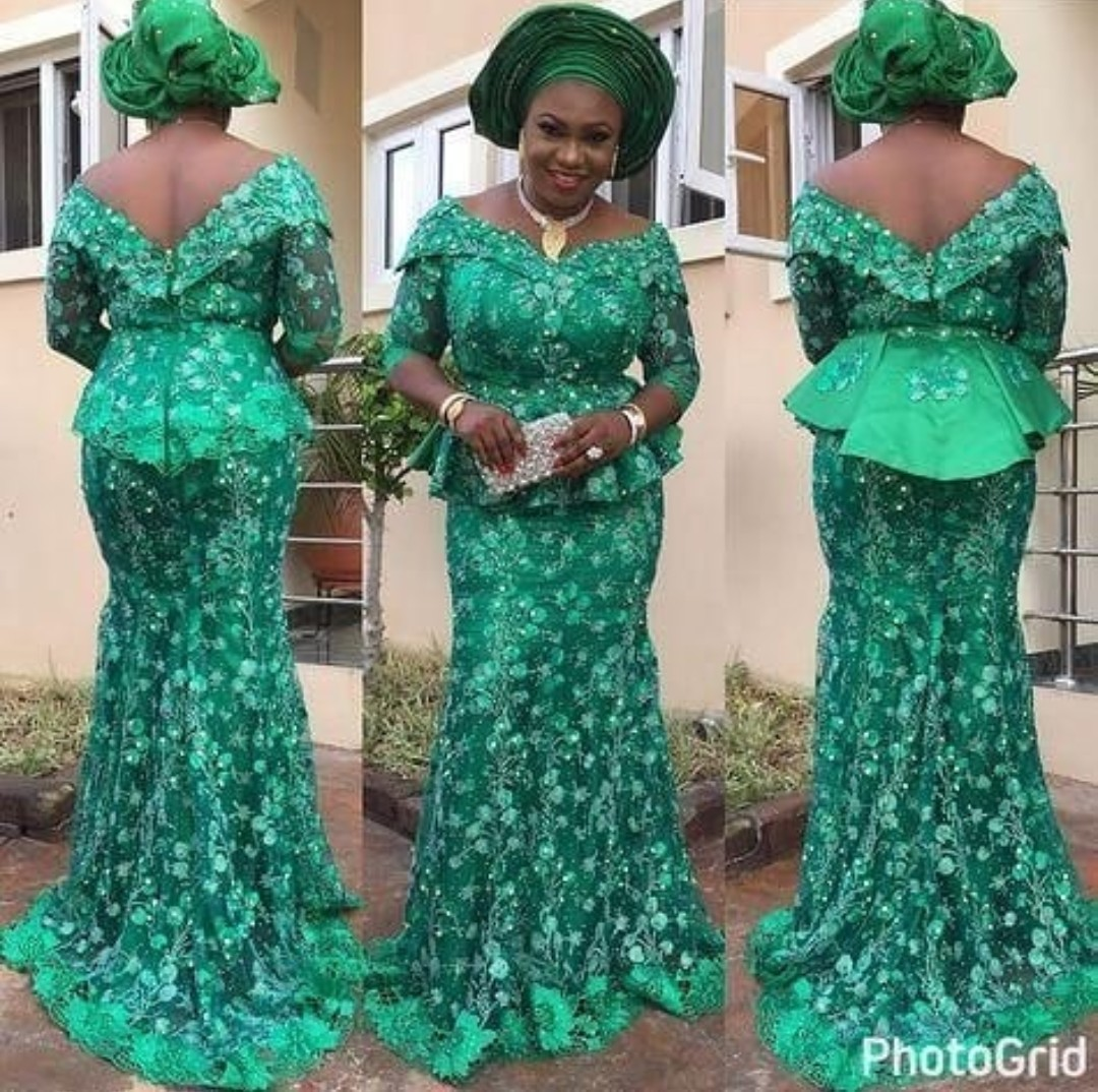 Latest Lace Skirt & Blouse Styles For Gorgeous Madams In