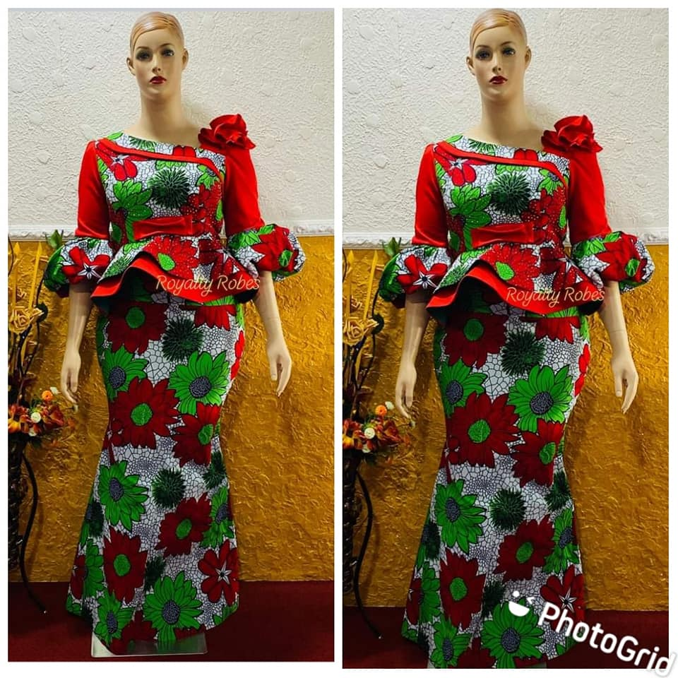 Simple Ankara Skirt And Blouse Designs For Fashionable Ladies 20 Desig