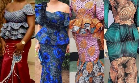 Unique Ankara Skirt & Blouse
