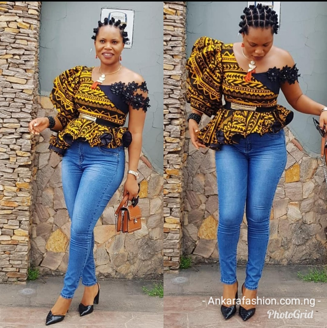 Stylish Ankara Peplum Tops
