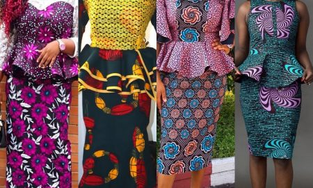 Simple Ankara Skirt And Blouse