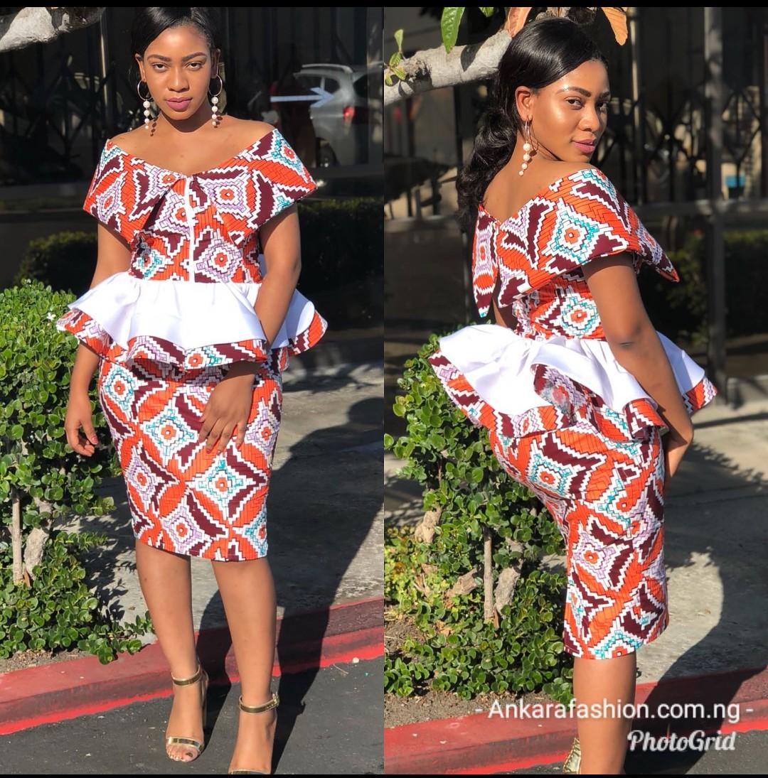 Simple Ankara Skirt And Blouse