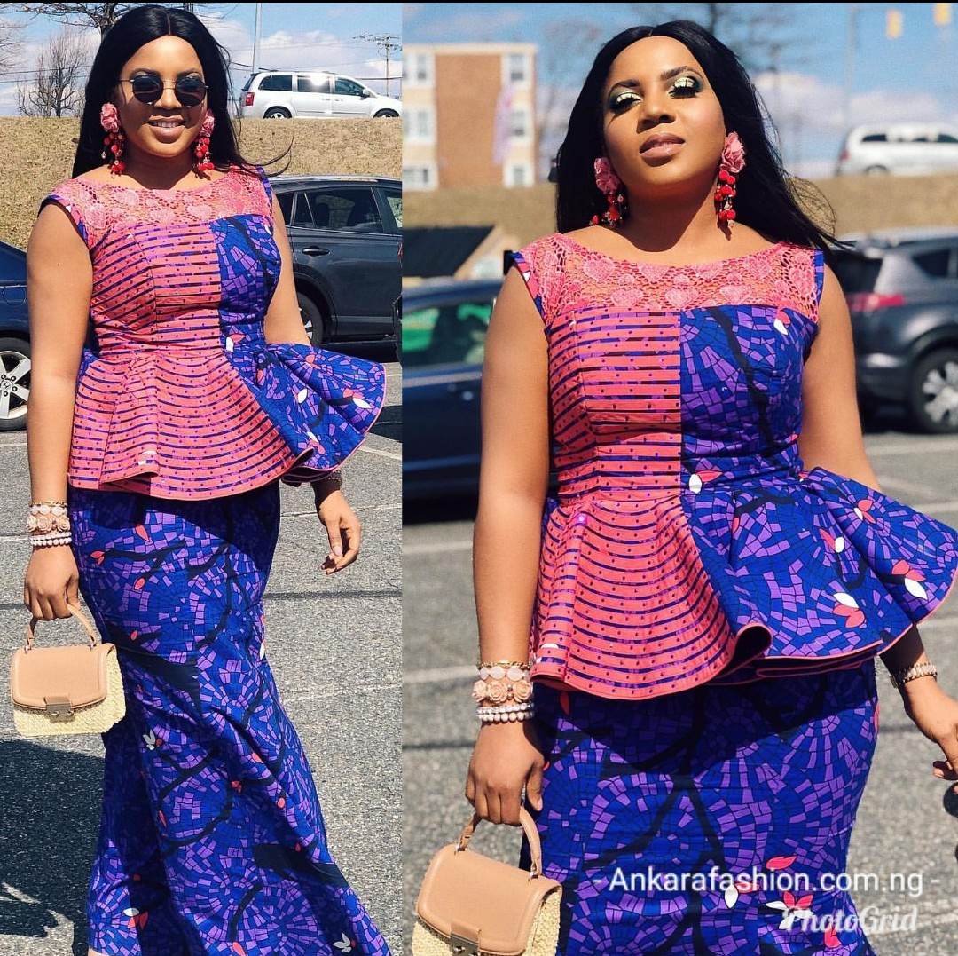 Latest Nigerian skirt and blouse