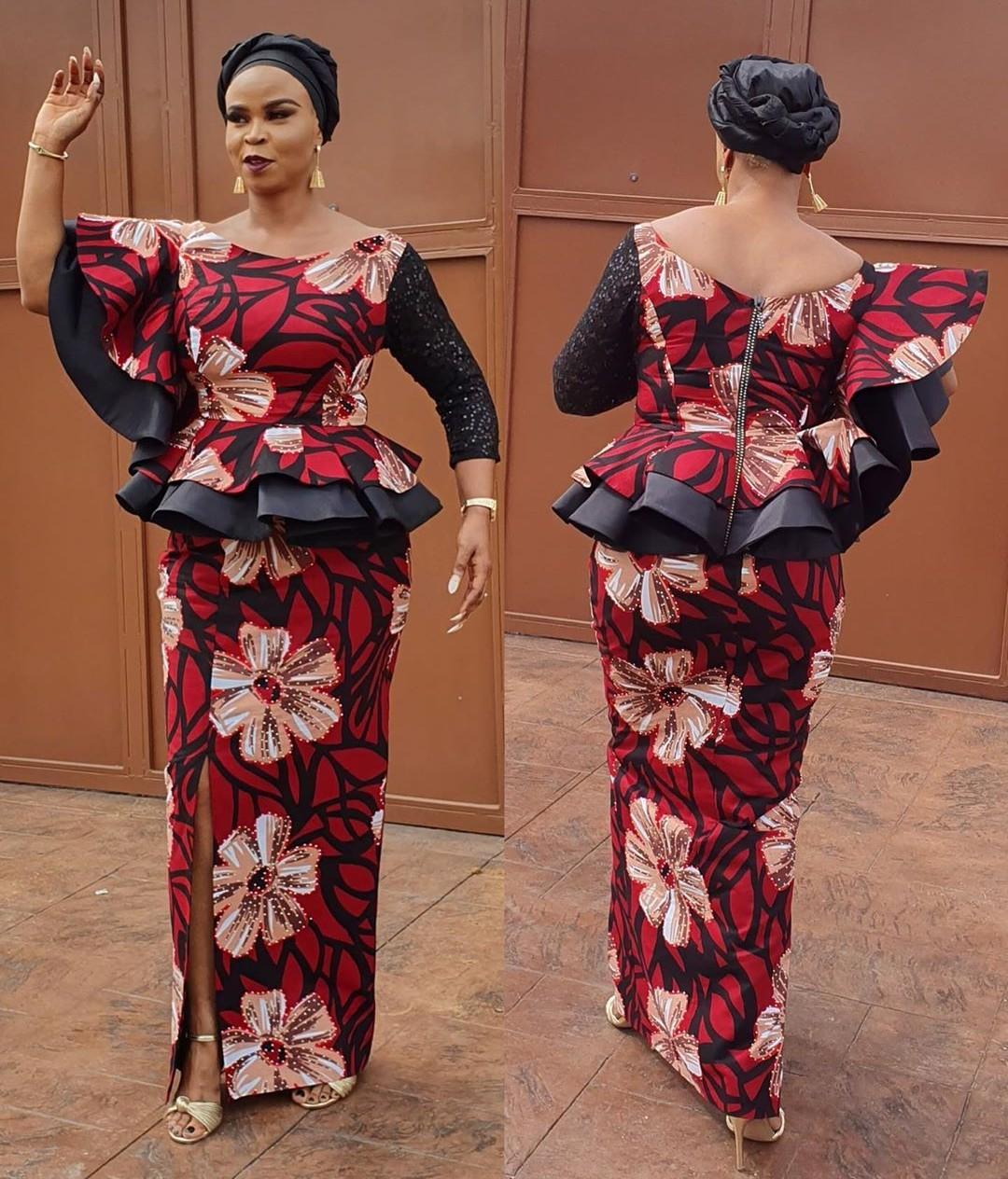 Latest ankara skirt and blouse styles 20 – Cheap denim jacket ...