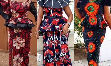 Chic Ankara Skirt and Blouse