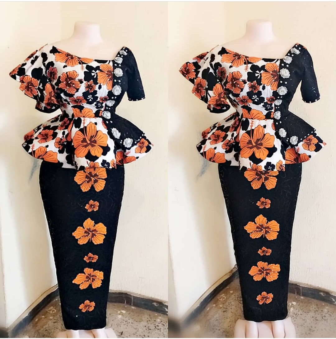 Latest Ankara Skirt & Blouse 2019