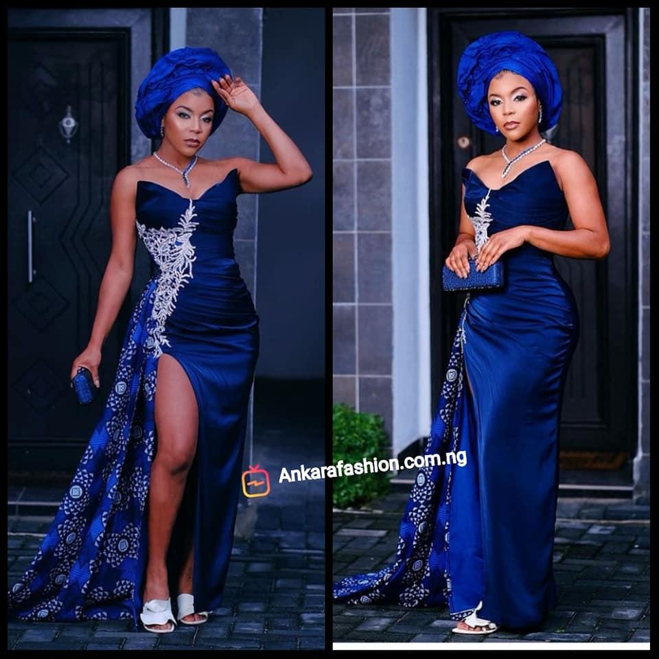 Celebrity Ankara Gown Styles