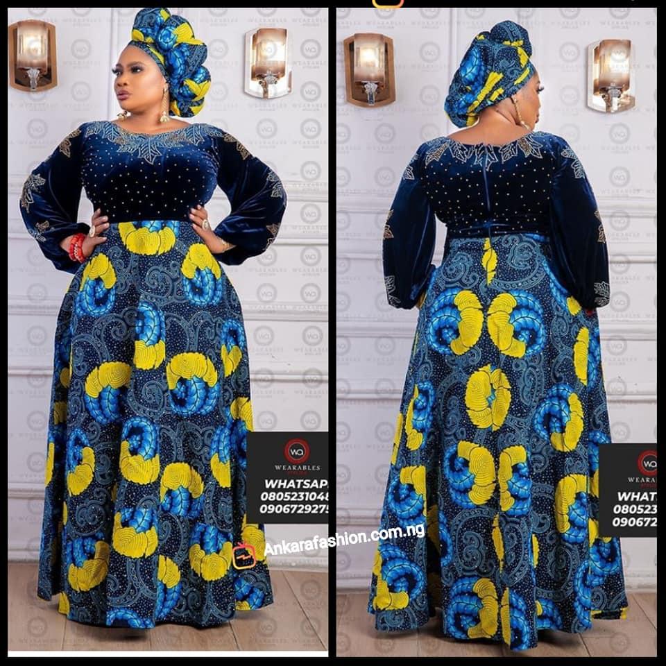 Madam Ankara Gown Styles